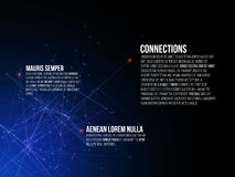 Abstract Connections Background Stock Photography