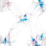 Abstract connections lines modern background Stock Image
