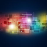 Abstract Connections Multicolor Background Stock Image