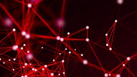 Abstract connections on red background royalty free stock photo