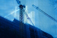 Abstract construction background Stock Photography