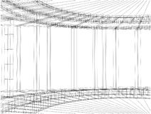 Abstract Construction Of The Line Vector 29 Stock Photography