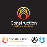 Abstract Construction Logo Template Design Vector. This design suitable for logo or icon. Color and text can be changed easily vector illustration