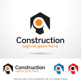 Abstract Construction Logo Template Design Vector. This design suitable for logo or icon. Color and text can be changed easily stock illustration
