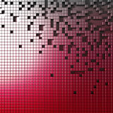 Abstract Construction. Red Cubes Wall. 3d Render Illustration vector illustration