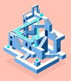 Abstract construction with secrets, labyrinth with secrets royalty free illustration