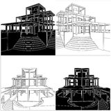 Abstract Construction Structure Vector Royalty Free Stock Images
