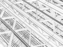 Abstract Construction Structure Vector Royalty Free Stock Photography