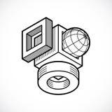 Abstract construction vector, dimensional design. Royalty Free Stock Photos