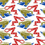Abstract constructionism seamless pattern automobile production Royalty Free Stock Photography