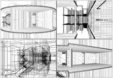 Abstract Constructions Of Line Vector Royalty Free Stock Photo