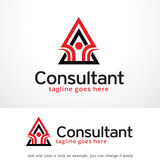 Abstract Consultant Logo Template Design Vector, Emblem, Design Concept, Creative Symbol, Icon. This design suitable for logo, symbol, emblem or icon Royalty Free Stock Photography