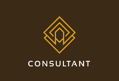 Abstract Consultant Logo Template Design Vector, Emblem, Design Concept, Creative Symbol, Icon. This design suitable for logo, symbol, emblem or icon Royalty Free Stock Photo