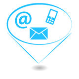 Abstract contact sign royalty free illustration