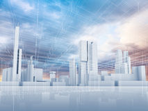 Abstract contemporary city background 3 d Stock Image