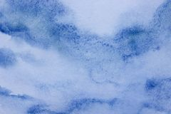 Abstract contemporary fresh  background on a textural surface in blue tones. Unique background. Blue sky and clouds royalty free illustration
