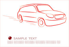 Abstract contour of car Royalty Free Stock Photography