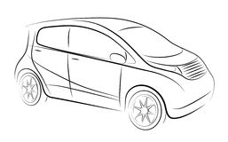 Abstract contour of car Stock Image