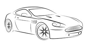 Abstract contour of car Royalty Free Stock Photo