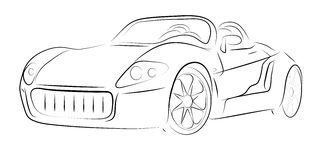 Abstract contour of car Royalty Free Stock Image