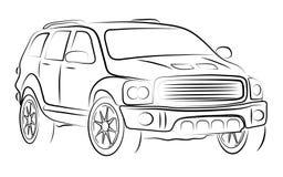 Abstract contour of car Stock Photo