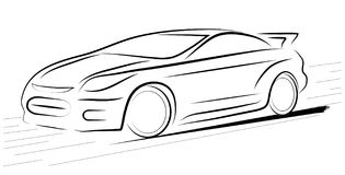 Abstract contour of car Stock Photography