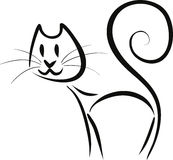 Abstract Contoured Cat Stock Image