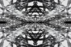 Abstract contrast ornament web. Abstract contrast ornament resembling a kaleidoscope in the form of a web stock photography