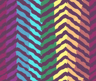Abstract contrast rainbow forest seamless pattern Stock Photography