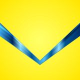 Abstract contrast yellow blue tech background Stock Photography