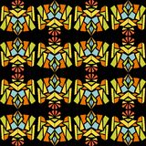 Abstract contrasting pattern in indian style Stock Image
