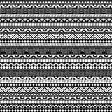 Abstract Contrats Ethnic Pattern. Seamless geometric tribal pattern. Abstract pattern in black, white and grey. Three colors background ornament Stock Image