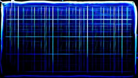 Abstract Cool Blue Fractal Light Lines Background Image stock illustration