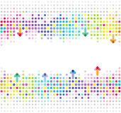 Abstract cooperation design. Abstract colorful cooperation design with spots and arrows on a white background Royalty Free Stock Photography