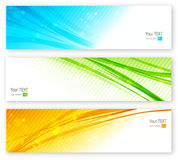 Abstract coplor lines banner Royalty Free Stock Image