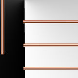 Abstract copper background. Abstract background with copper tubing design for presentation slides Stock Photo