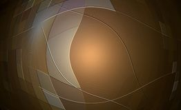 Abstract copper background. Abstract copper colored background with cream ribbon texture and center light Stock Illustration