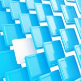 Abstract copyspace background of blue plastic plates. Abstract copyspace background made of white and blue glossy plastic plates Royalty Free Stock Images