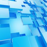 Abstract copyspace background made of glossy plates. Abstract copyspace background made of blue glossy plates royalty free illustration