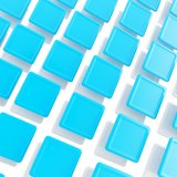Abstract copyspace background of square plates. Abstract copyspace background made of white and blue glossy square plates Stock Photo