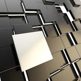 Abstract copyspace black square plate background Royalty Free Stock Photo