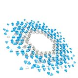 Abstract copyspace hexagon frame background isolated Royalty Free Stock Photo