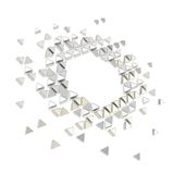 Abstract copyspace hexagon frame background isolated Royalty Free Stock Photography