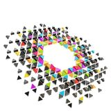 Abstract copyspace hexagon frame background isolated Royalty Free Stock Photos