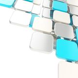 Abstract copyspace plate composition background over white Stock Image