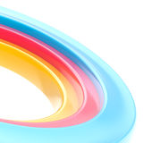 Abstract copyspace torus background. Abstract copyspace background made of glossy colorful torus on white Stock Photo