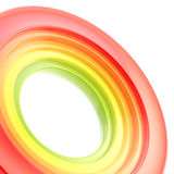 Abstract copyspace torus background. Abstract copyspace background made of glossy colorful torus on white Royalty Free Stock Images