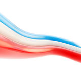 Abstract copyspace tricolor background of glossy stripes Royalty Free Stock Image