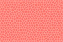 Abstract coral gradient background. Texture with pixel square blocks. Mosaic pattern.  stock illustration