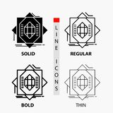 Abstract, core, fabrication, formation, forming Icon in Thin, Regular, Bold Line and Glyph Style. Vector illustration vector illustration